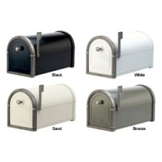 Residential Mailbox with Antique Nickel Accents