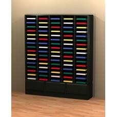 Mail Room Furniture Custom Wood Mail Room Sorter / Office Organizer - 80 Pockets