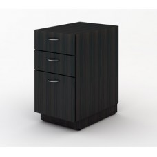 Custom Mail Room Furniture - Wooden File Cabinet with 2 Storage Drawers and One File Drawer