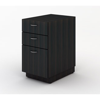 Wood File Cabinet with Two Storage Drawers and One File Drawer