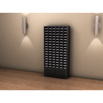Custom mail room furniture - Attractive Wood Sorter - 96 Pockets