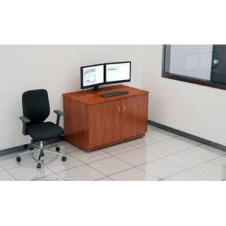 "Custom Mail Room And Office Furniture - 50-3/4"" Wide Custom Wood Table with Doors"