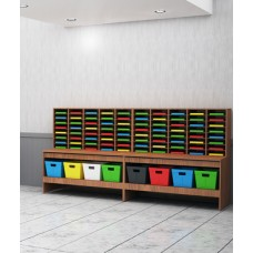 """Mail Room and Office Furniture - 124""""W, 80 Pocket Wood Sorters and Tables"""