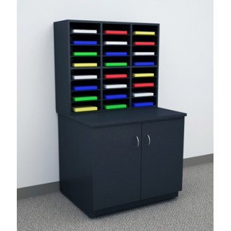 """Custom Mail Room And Office Furniture - 37-1/2""""W Custom Wood Sorter - 24 Pocket (Table sold separately)"""