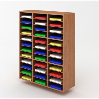 "Custom Mail Room And Office Furniture - 37-1/2""W Custom Wood Sorter - 36 Pockets"