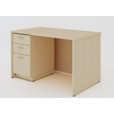 "Custom Mail Room and Office Furniture _ 50-3/4""W Custom Wood Desk with File Drawers"