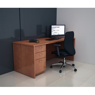 "Custom Mail Room And Office Furniture - 75-1/4""W Custom Wood with File Drawers."