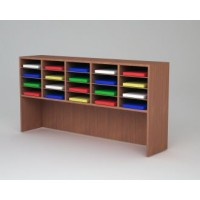 """Mail and Office Furniture - 62""""W Wood 20 Pocket Sorter and Riser"""