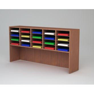 "Custom Mail and Office Furniture - 62""W Custom Wood 20 Pocket Sorter and Riser"