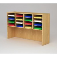 "Custom Mail Room And Office Furniture - 49-3/4""W Custom Wood Sorter and Riser - 16 Pockets"