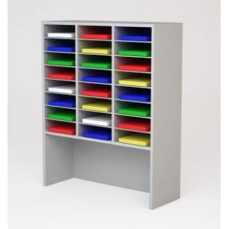 "Custom Mail Room And Office Furniture - 37-1/2""W Custom Wood Sorter and Riser - 24 Pocket"