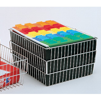 Mail Room and Office Cart Supplies Compact Wire File Basket