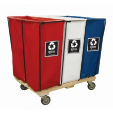 Mail Room and Office Supplies Red, White and Blue Recycle Hampers