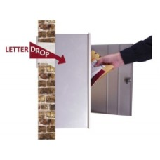 Complete Aluminum Mail Drop Station - Includes Mail Drop, Wall chute and Wall Box!
