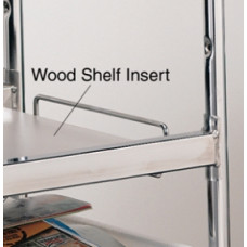 Laminated Wood Shelf Insert, for long wire carts - White