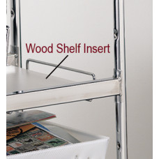 Laminated Wood Shelf Insert, for medium wire carts - White
