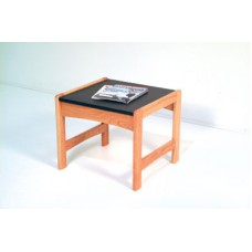 End Table - Black Top with Light Oak Ends