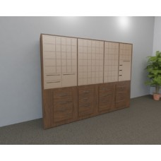 Laminated Wood Cabinet for Mailboxes - Includes Mailboxes
