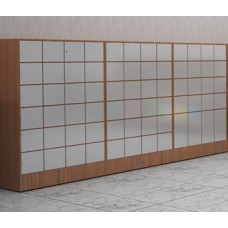 Triple Wide Large Laminated Wood Cabinet - Optional Mailboxes