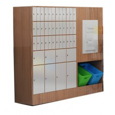 Large Laminated Wood Cabinet - Optional Mailboxes