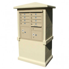 Short Decorative Stucco Mailbox Cabinet (Cabinet Only)