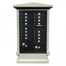 Tall Decorative Stucco Mailbox Cabinet (Cabinet Only)