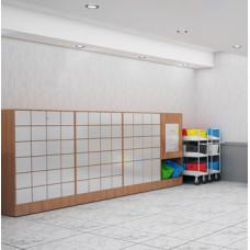 Large Laminated Wood Cabinet - Optional Mailboxes