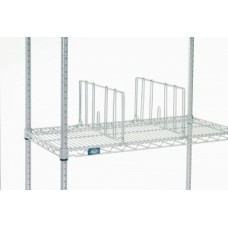 "Mailroom Supplies 18""D Clip-On Divider - For Our Wire Shelving Racks"