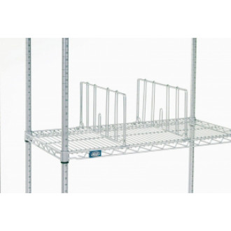 """Mailroom Supplies 18""""D Clip-On Divider - For Our Wire Shelving Racks"""
