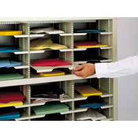 "Mailroom Supplies 9-1/2""W x 15-1/4""D Horizontal Mail Sorter Shelf"