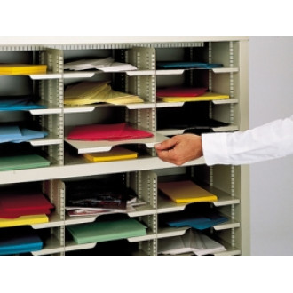 "Mailroom Furniture 11-1/2""W X 16-1/2""D Horizontal Mail Sorter Shelf"
