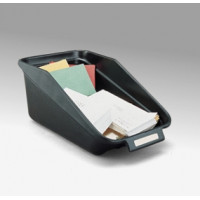 "Mail Room Supplies 10-1/4""W Standard Black Bin"