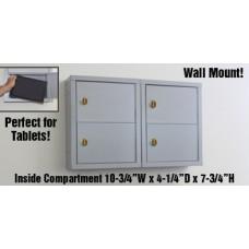"""5""""D - 4 Door, Locking Tablet Computer Cabinet with Combination Locks"""
