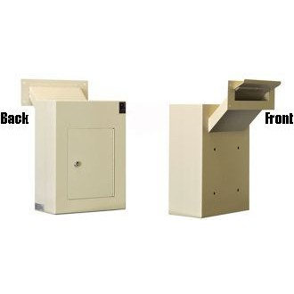 Through The Wall Steel Mount Drop Box - Adjustable Chute