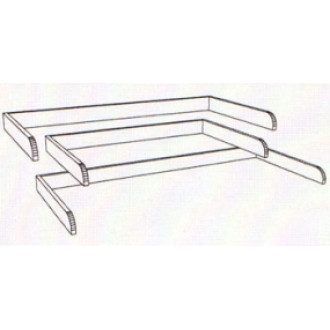 "48""W x 36""D Table Top Side Rails - Three Sided Rail"