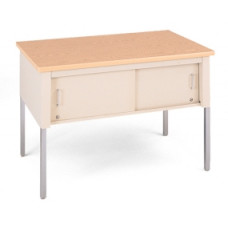 "Mail Room Furniture 48""W x 36""W Standard Adjustable Height Table With Sliding Locking Door"
