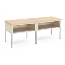 "Mail Room and Office Furniture 96""W x 20""D Standard Table with Shelf"