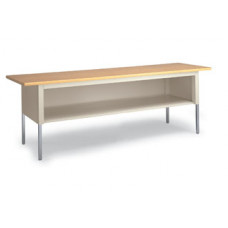 "Adjustable Mail Room Office Table 84""W x 30"" Depth Standard Table Mail Room With Lower Storage Shelf"