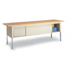 "Adjustable Mail Room and Office Tables 84""W x 30""D Standard Adjustable Table With Sliding Locking Door"