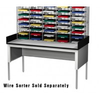 "60""W x 36""D Standard Open Table with 6"" Side Rails"