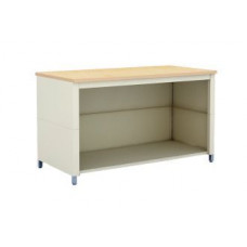 "Charnstrom Mail Room and Office Table 60""W x 20""D Extra Deep Open Storage Adjustable Table with Shelf"