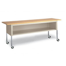"Mobile Mail Room and Office Table 72""W x 20""D Standard Adjustable Height Table with Lower Shelf and Casters"