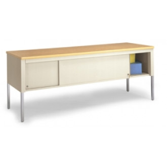 """Mail Room and Office Work Table 72""""W x 20""""D Standard Adjustable Height Table With Sliding Locking Door"""