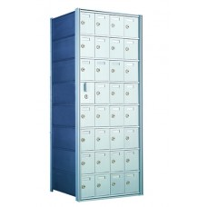 Commercial and Private Use Mailboxes 31 Door Front Loading Mailbox Cluster with Master Door - Complete!!