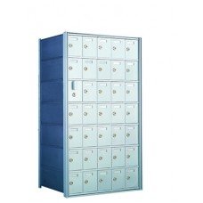 Commercial and Residential Mailboxes 34 Door Front Loading Mailbox Cluster with Master Door - Complete!!