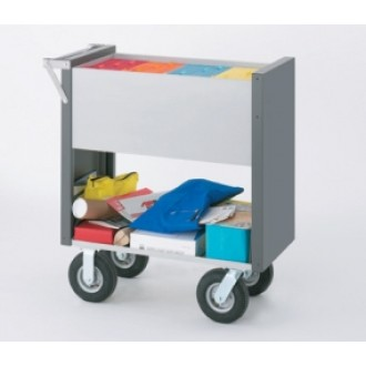 """Medium Solid Mail Delivery Cart with 8"""" Casters (2 Different Styles)"""
