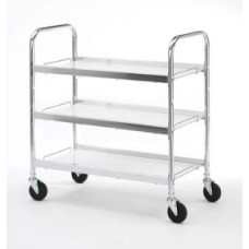 Three Shelf Utility Mail Delivery Cart