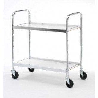 Warehouse, Mail Room and Office Carts Medium Two Shelf Utility Cart