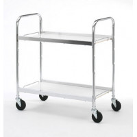Long Two Shelf Utility Mail Delivery / Office Cart