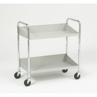 Mail Room and Office Carts Two Shelf Tote Mail Distribution Cart